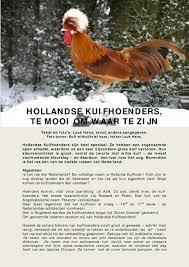 Hollandse Kuifhoenders Te Mooi Om Waar Te Zijn Pdf