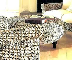 rattan ottoman coffee table round wicker image of
