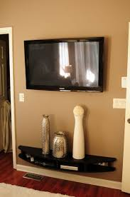... Wall Units, Charming Tv Wall Mount With Built In Shelf Tv Shelves Wall  Mounted Black ...