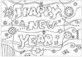 Small Picture Printable New Year Coloring Pages For Children New Years Coloring