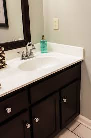 Painted Bathroom Countertops How To Paint Cultured Marble Countertops Diy Tutorial
