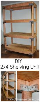diy 2x4 shelving unit learn how to make this useful piece for your home