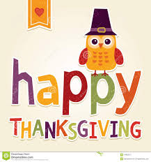 Happy Thanksgiving Illustration With Owl In Pilgrim Costume Stock Vector -  Im..