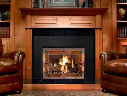 mendota hearth fireplace with a ss front