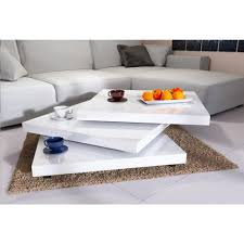 Deuba Couchtisch Hochglanz Weiß Modern 360 Drehbar Im Cube Design 60x60cm Wohnzimmertisch Beistelltisch Design Lounge Tisch Sofatisch