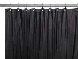 royal bath extra wide 5 gauge vinyl shower curtain liner with metal grommets in black
