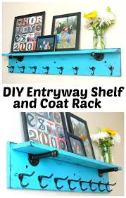 Diy Entryway Coat Rack Interesting DIY Entryway Shelf And Coat Rack Wood Furniture Projects