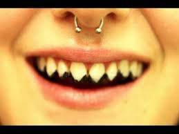 sharp teeth. tooth enamels: how to create zombie/rotted teeth, sharp pointed and knocked out teeth. teeth