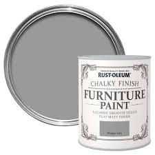 Rust-Oleum Rust-Oleum Winter Grey Chalky Matt Furniture Paint 125 ml    Departments   DIY at B&Q