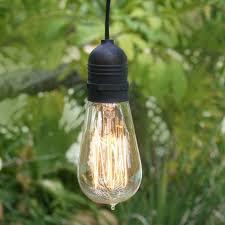 15ft single socket black weatherproof outdoor pendant light lamp cord
