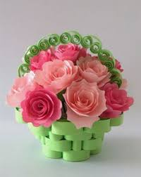 Paper Quilling Flower Baskets 109 Best Quilling Flower Pots Images Flower Planters Flower Pots