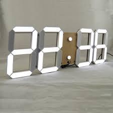 remote control large led digital wall clock modern design home
