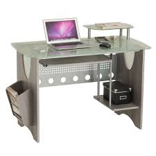 desktop computer furniture.  Furniture Stylish Frosted Glass Top Computer Desk With Storage To Desktop Furniture H