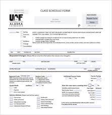 Free College Schedule 3 College Class Schedule Templates Doc Pdf Free