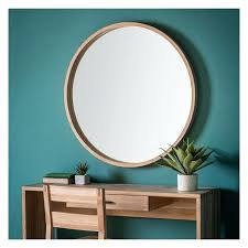 wood wall mirrors. Large Round Wooden Wall Mirror Exclusive Mirrors Within Decor Broyhill Wood Circle