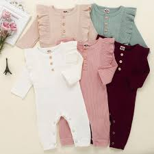 Designer Newborn Baby Girl Clothes 2019 New Baby Rompers Spring Autumn Baby Boy Clothes New Romper Cotton Newborn Baby Girls Kids Designer Cartoon Infant Jumpsuits Clothing From