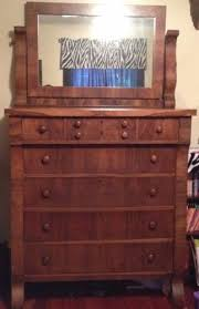 ANTIQUE AMERICAN EMPIRE STYLE FULL SIZE BEDROOM SET