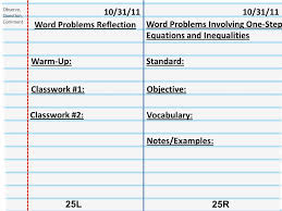 27 word problems reflection word problems involving one step