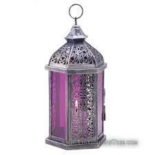 Moroccan Style Lantern - Amethyst
