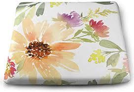 AvfesGa Watercolor Sunflower Pattern Square ... - Amazon.com