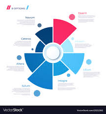 Free Pie Chart Pie Chart Concept With 8 Parts Template