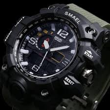 <b>Men</b> Military <b>Watch 50m Waterproof</b> Wristwatch LED | IslandBreeze ...