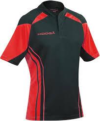 kooga stadium match rugby shirt black re