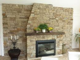fireplace stone wall covering ideas