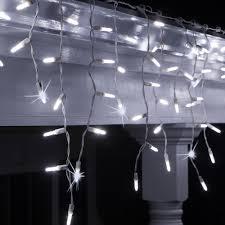 Twinkle Icicle Led Lights Wintergreen Lighting 7 5 Ft 70 Light M5 Led Cool White