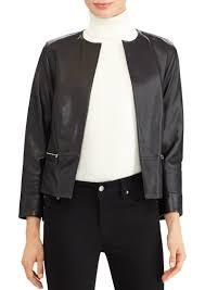 lauren open front leather jacket