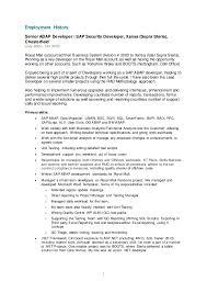 abap developer resume
