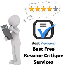 Free Resume Critique Services Free Resume Critique Service