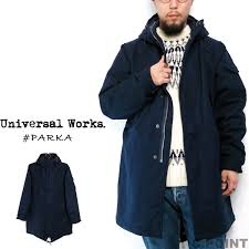 universal works universal works parka wool melton mods coat m51 parka navy mens military work fishtail india made uw uk navy s 15105