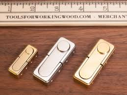 brusso spring operated jewelry box latch left to right jb 818