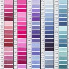 Dmc Color Chart Numerical Order Dmc Floss Color Colour Card With Real Thread Samples