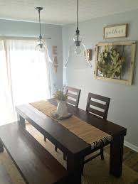 Dining Room Decor Farm House Table Pottery Barn Pendants - Rustic farmhouse dining room tables