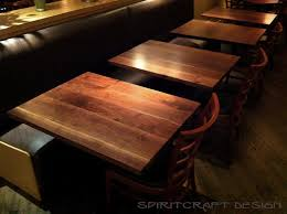 black wood table top. Custom Made Solid Wood Black Walnut Table Tops At Chicago Restaurant From Spiritcraft Design Furniture In Top E