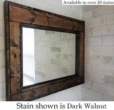 wood wall mirror. Renewed Décor Herringbone Reclaimed Wood Mirror In 20 Stain Colors - Large Wall Rustic L