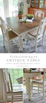 Antique Dining Table Updated With Chalk Paint Bloggers Best Diy