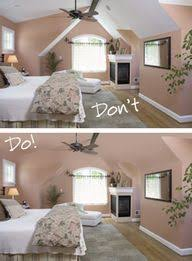 decorating a basement bedroom. Contemporary Basement Great Graphic Of Sloped Ceilings And The Difference Paint Color Can Make  Room Looks Much Bigger When Not Broken Up By Color For Decorating A Basement Bedroom
