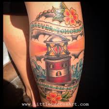 Littlecactusartsayings Traditional Color Light House
