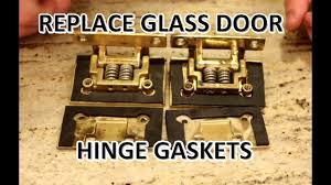 how to replace glass door hinge gaskets