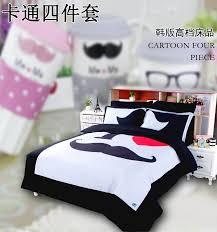 nattey cartoon black bedding set duvet