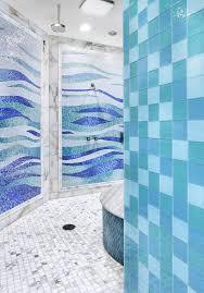 aqua glass tile mosaic headboard bathroom contemporary with shower bench traditional bath towel sets
