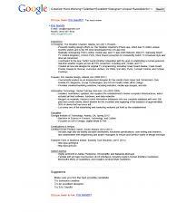 Google Resume Fascinating Google Resumes Canreklonecco
