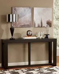 Sofa Table Decorations Sofa Matte Black Metal Accent Table With Tempered Glass Free