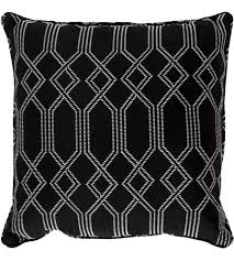 surya cs006 2020 crissy 20 x 20 inch black and white outdoor pillow cover photo
