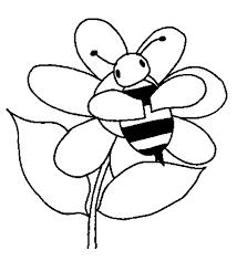 Insecten Kleurplaten Bij Op Bloem