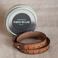 wrist ruler leather wristband