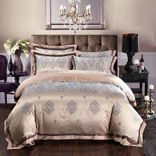blue and tan bedding tan and pale blue western paisley pattern style shabby chic luxury jacquard